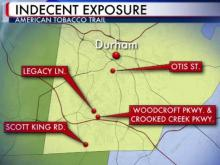 Durham police are trying to identify the man or men involved in four incidents of indecent exposure on the American Tobacco Trail between Oct. 23 and Oct. 30, 2011.