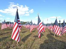 Exhibits across Fayetteville, including a half-sized replica of the Vietnam Memorial, tell the stories of veterans.