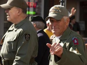 Vietnam Veterans participated in the 2011 Heroes Homecoming Parade in dowtown Fayetteville.