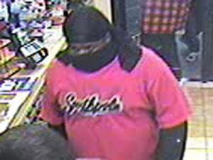 Raleigh police are looking for the man seen in thhis surveillance images. He is one of two wanted in the Nov. 12 robbery of the Circle K convenience store on Lake Boone Trail Road.