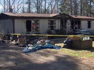 A fire broke out at this house at 115 Satterwhite Point Lane in Henderson on Dec. 17, 2011.