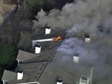 Sky5 over Raleigh apartment fire