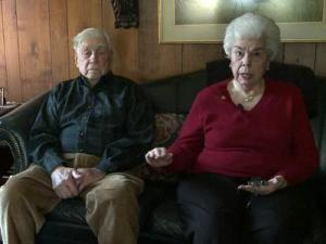Harry and Grace Fishel say they were victims of a widespread telephone hoax in which scammers convince grandparents and older people that they are related to them and need money.