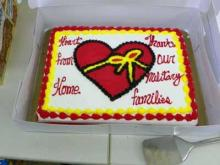 A look at the cake from the 2011 Hearts from Home party. (Image from Heartfromhome.com)