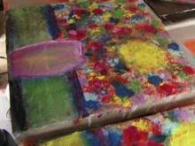 Retired officer accused of stealing own art