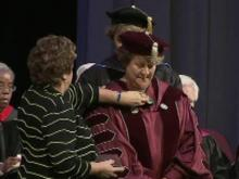 Jo Allen was officially installed as president of Meredith College