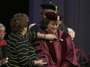 Jo Allen was officially installed as president of Meredith College on March 22.