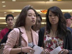 "Thousands lined up at Crabtree Valley Mall Saturday for the chance to be an extra in the upcoming ""Iron Man"" movie."