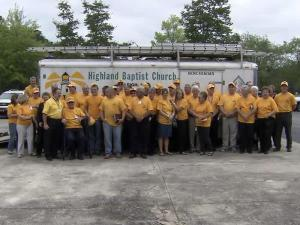 North Carolina Baptist Men volunteers from Highland Baptist Church in Raleigh