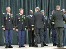 A Fort Bragg battalion was honored by the Canadian government in a first-ever international ceremony on May 23, 2012.