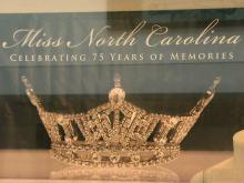 The Miss North Carolina scholarship pageant is celebrating its 75th anniversary this year with an exhibit at the North Carolina Museum of History in Raleigh.
