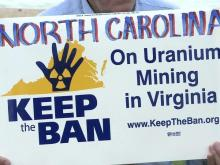 As legislation that would allow uranium mining in Virginia advances through that state's legislature, opposition to the move is growing in North Carolina.