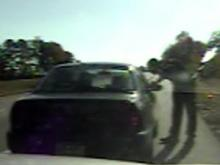 Dash-cam video shows officer being shot