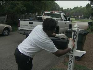 Crews are working to remove graffiti from homes, cars, posts and fences in Raleigh neighborhoods hit by vandals overnight.