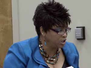 Princeville Mayor Priscilla Everette-Oates pleads with the state Local Government Commission on July 30, 2012, to give the town more time to get its financial act together and avert a state takeover.