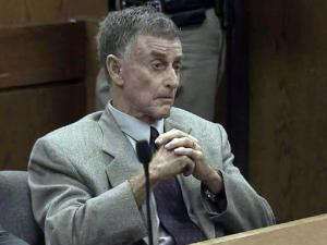 Mike Peterson listens to testimony during an Aug. 10, 2012, bond hearing. A judge denied Peterson's request to rid himself of an ankle monitoring bracelet while awaiting a new trial in his wife's 2001 death.