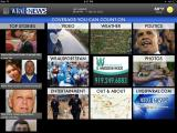 Home screen from WRAL iPad app