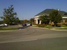 A patrol car responded to a report of a kidnapping at attempted robbery at Crescent State Bank.