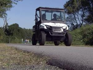 Durham police are using all-terrain vehicles to patrol the American Tobacco Trail.