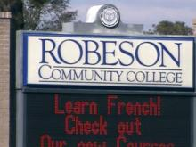 Robeson Community College sign