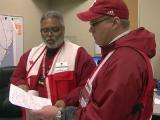 Red Cross volunteers in Ocean Township, NJ