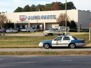 Police swarmed to a CarQuest store in Raleigh Friday after reports of shots fired.