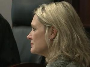 Former Wake County District Judge Kristin Ruth testifies Dec. 3, 2012, during a sentencing hearing for former attorney James Crouch.