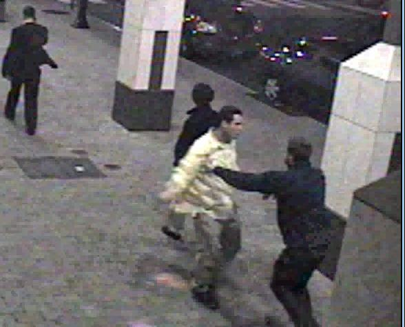 Raleigh police are looking for the men in this surveillance photo in connection with a Nov. 24, 2012, assault outside La Volta Restaurant, at 411 Fayetteville St.