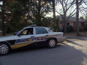 Apex police were searching for a man who robbed an elderly couple in their home on Dec. 6, 2012.