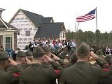 Wounded veteran receives new home for the holidays