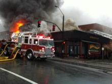 Viewer video: Hibernian Pub fire
