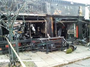 Hibernian Pub, at 311 Glenwood Ave., was destroyed after fire ripped through the landmark bar in Raleigh's Glenwood South district on Dec. 26, 2012.
