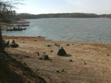 The water level at Kerr Lake was at 293 feet above sea level on Jan. 9, 2013.