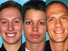 Durham Police Officer Stacy L. Armstrong, Durham Police Officer Erin V. Espinola and Durham Police Lt. Ryan A. Freeman.