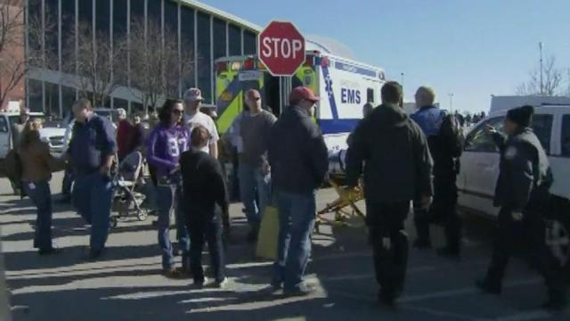 Three injured in accidental shooting at gun show