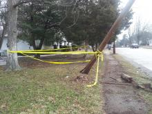 Caution tape remained Monday around the scene of a crash Sunday that killed a 5-year-old boy in Henderson.