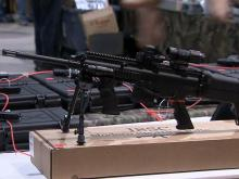 New rules for gun shows at the North Carolina State Fairgrounds were tested for the first time Saturday, a month after three people were injured in an accidental shooting.