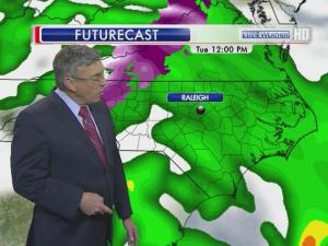 Rain will be steady and widespread Tuesday in the Triangle.