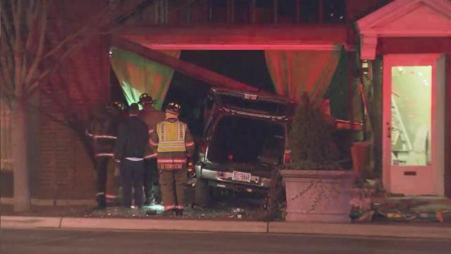 SUV crashes into Durham beauty store