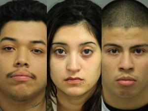 Marcos Gabriel Chapparo, 20, Erick Pardo Martinez, 17, and Karen Alexis Gonzalez, 18, have been charged with murder in the death of Alfonso Canjay Rincon, 42.