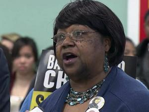 "Effie Steele's daughter, Ebony Robinson, was killed in December 2007 by a man she says should never have had access to a gun. ""I'm involved in a group I never thought I would ever or never wanted to be a part of,"" she told a crowd March 28 at a Durham event in favor of stricter gun control laws."