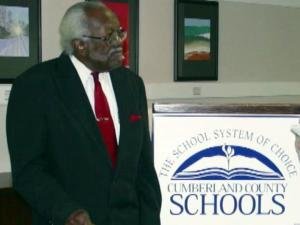 Walter Drake received an honorary diploma from E.E. Smith High School in Fayetteville on March 21, 2013, on his 100th birthday.