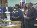 Triangle mayors rally for universal background checks