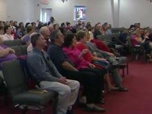 Stedman congregation holds Easter service after blaze destroys sanctuary