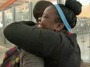 A 16-year-old Durham girl who was adopted from Uganda in 2010 reunited with her younger brother for the first time in years Thursday night at Raleigh-Durham International Airport.