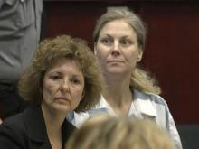 Amanda Hayes, right, appears in a Wake County courtroom on April 22, 2013, with attorney Rosemary Godwin.
