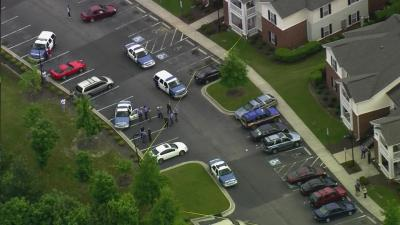 Raleigh police were on the scene of a shooting May 3 that left a man wounded.