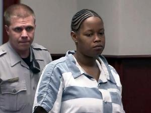 Marlaine Victoria Coffey makes her first court appearance May 6, 2013, on charges of child abuse.
