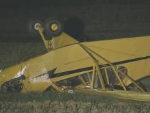 Piper crashes in Johnston County field