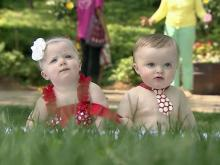 Babies visit WRAL gardens for photo shoot